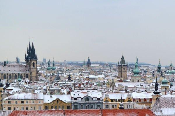 clima di Praga in inverno