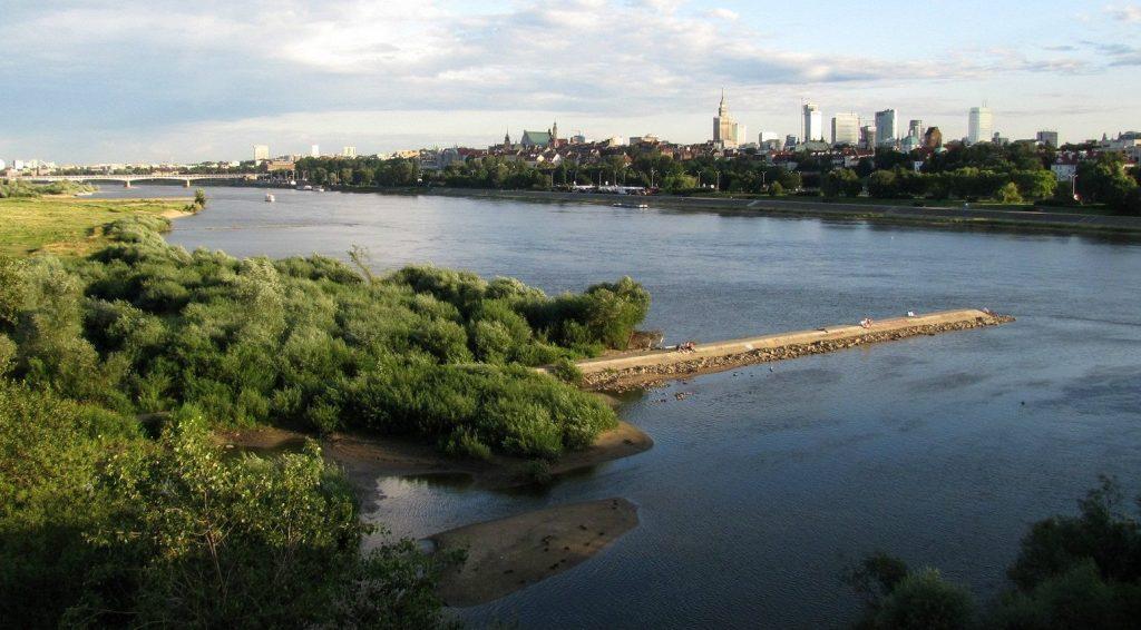 Il fiume della capitale polacca