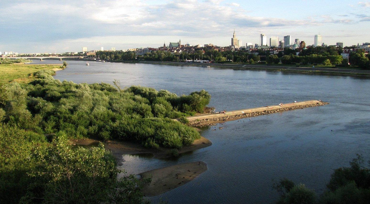 Il fiume Vistola in Polonia