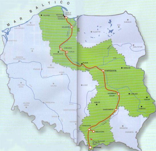 La lunghezza del fiume polacco Vistola