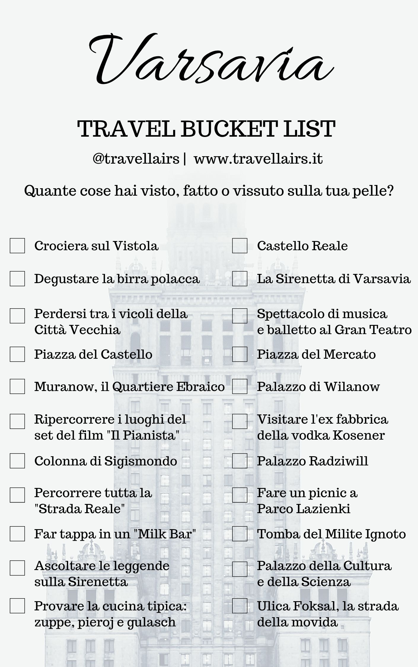 Ultimate Bucket List Varsavia