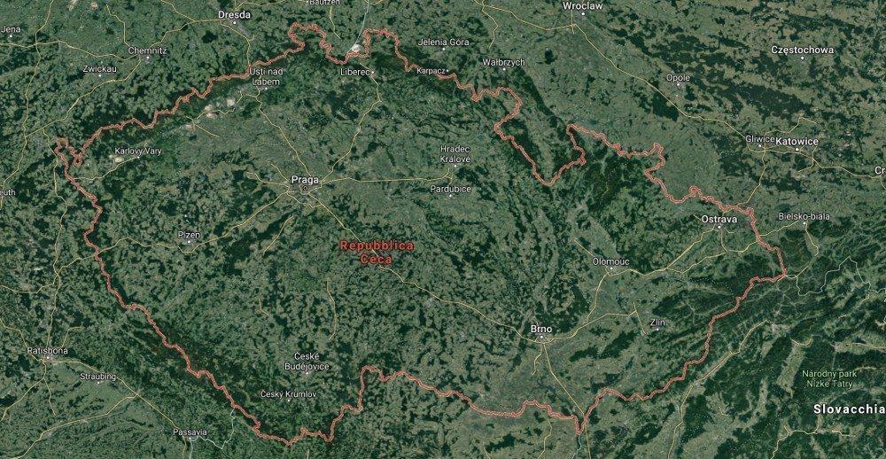 Lo stato ceco e la cartina geografica