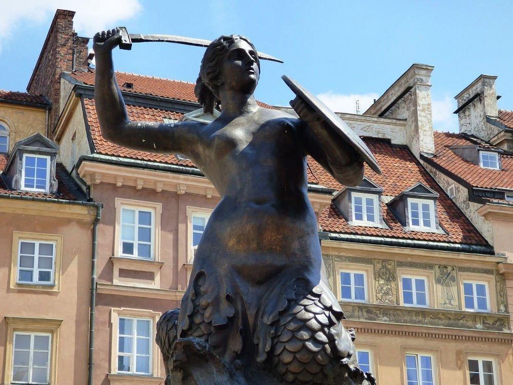 Vedere la sirenett simbolo di Varsavia