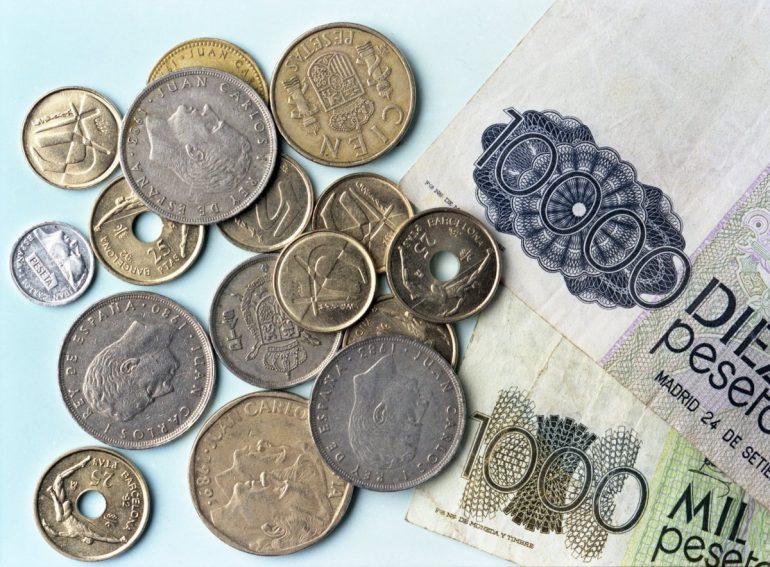 I contanti spagnoli usati prima dell'euro