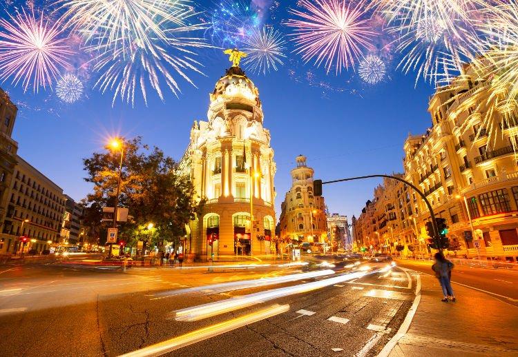 Festa di San Silvestro a Madrid