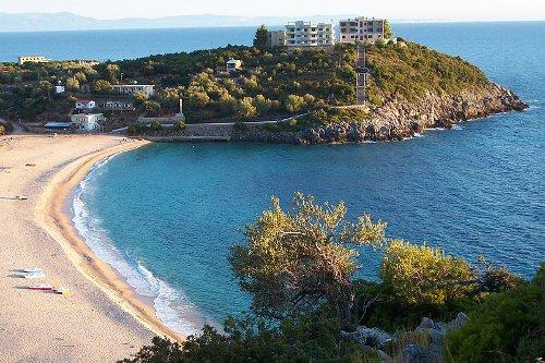 La spiaggia di Jali in Albania