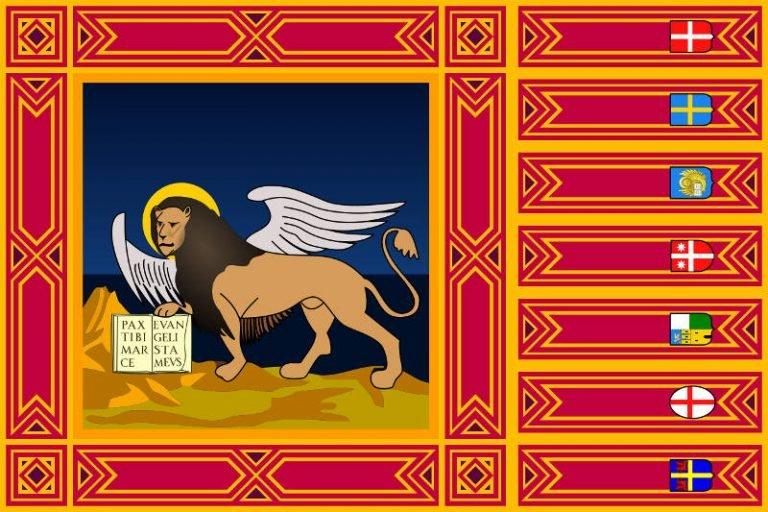 La bandiera della regione Veneto