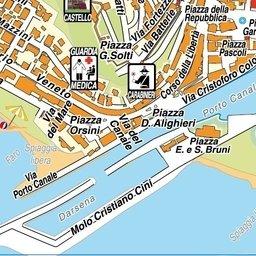 Cartina di Castiglione della Pescaia