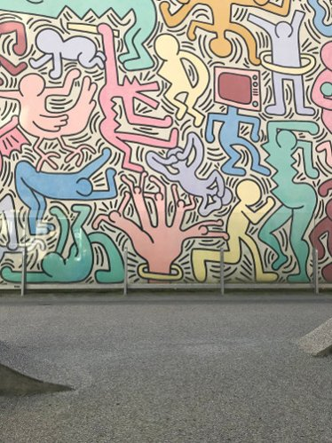 Graffito di Keith Haring a Pisa