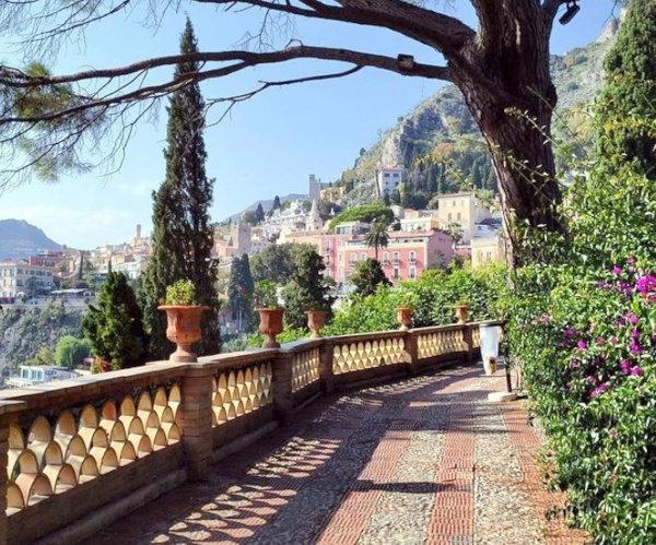 Parco pubblico a Taormina