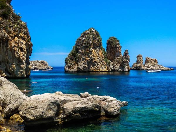 Scopello spiaggia in Sicilia