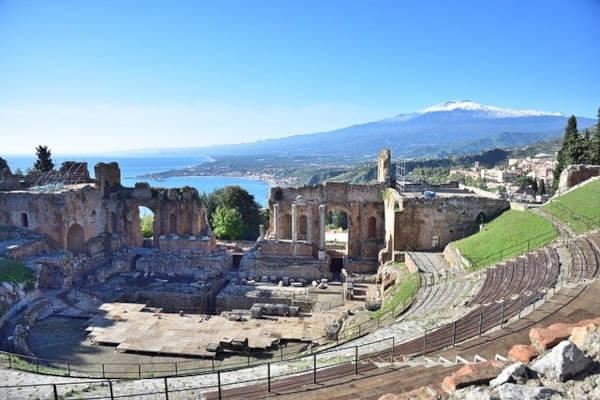 Teatro greco romano a Taormina