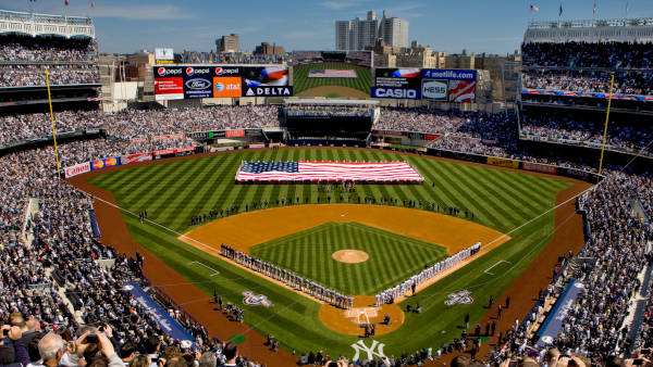 Stadio di baseball a New York