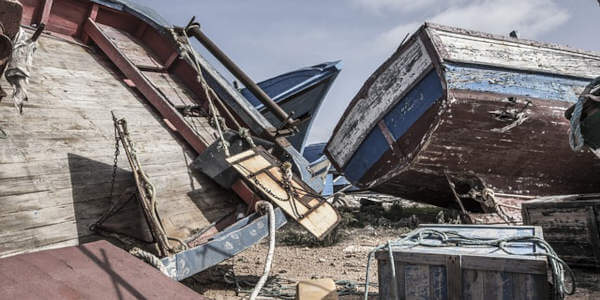 Cimitero delle barche a Lampedusa