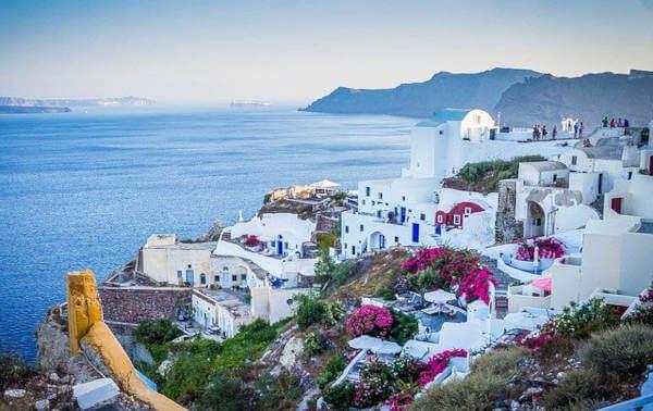 Santorini mare bello in Grecia